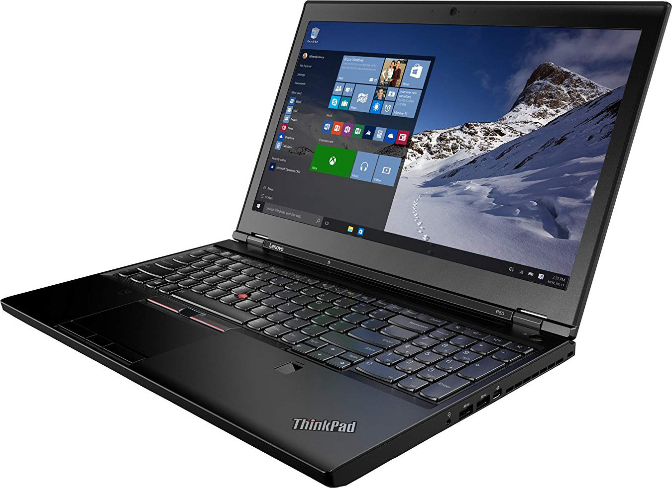 "Lenovo ThinkPad P50 20EN0013US 15.6"" Laptop - Intel Core i7-6700HQ (4core 2.60 GHz), 8GB RAM, 500GB Hard Drive, NVIDIA Quadro M1000M 2GB"