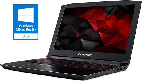 "Acer Predator Helios 300 Gaming Laptop, 15.6"" Full HD IPS, Intel i7-7700HQ CPU, 16GB DDR4 RAM, 256GB SSD, GeForce GTX 1060-6GB, VR Ready, Red Backlit KB, Metal Chassis, Windows 10 64-bit, G3-571-77QK"