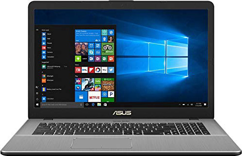 "CUK N705UD VivoBook Pro Thin & Light Laptop, 17.3"" Full HD, Intel i7-8550U Processor, 16GB RAM, 500GB SSD, NVIDIA Gaming GeForce GTX 1050, Backlit Keyboard, Windows 10, Star Gray"