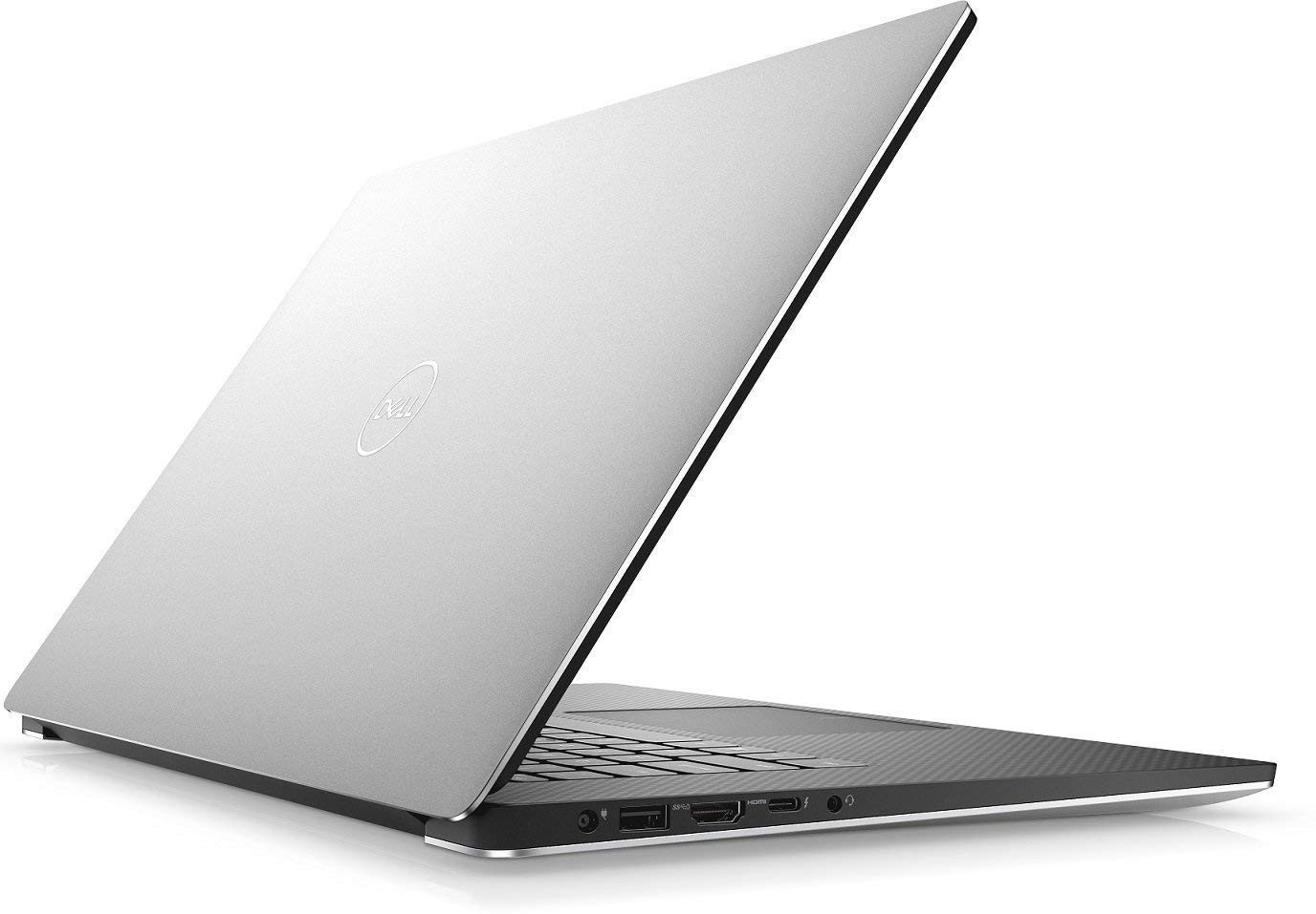 "2018 Dell XPS 9570 Laptop, 15.6"" UHD (3840 x 2160) InfinityEdge Touch Display, 8th Gen Intel Core i7-8750H, 32GB RAM, 1TB SSD, GeForce GTX 1050Ti, Fingerprint Reader, Windows 10 Pro, Silver"