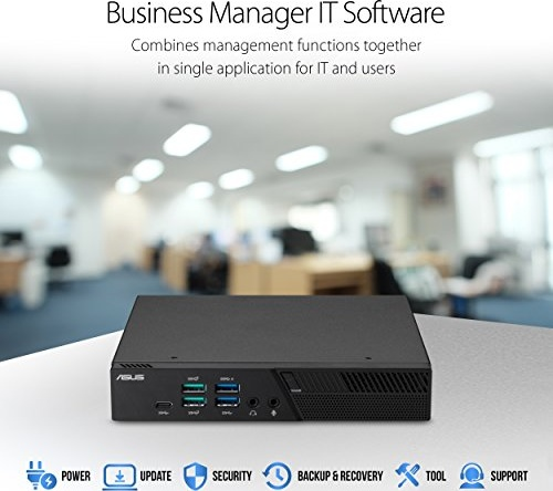 Asus PB60 Mini PC with Intel Core i5-8400T (256GB SSD, up to 32GB of DDR4 RAM, HDMI, DisplayPort, com Port, 802.11AC WiFi, Bluetooth, Gigabit LAN, Windows 10 Pro, Vesa Mount) PB60-B5042ZC