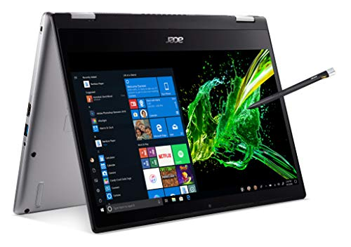 Acer Spin 3 Convertible Laptop, 14 inches Full HD IPS Touch, 8th Gen Intel Core i7-8565U, 16GB DDR4, 512GB PCIe NVMe SSD, Backlit KB, Fingerprint Reader, Rechargeable Active Stylus, SP314-53N-77AJ