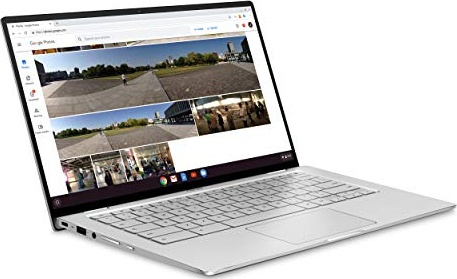 "Asus Chromebook Flip C434TA-DS384T 2 In 1 Laptop, 14"" Touchscreen FHD 4-Way NanoEdge, Intel Core M3-8100Y Processor, 8GB RAM, 64GB eMMC Storage, Backlit KB, Silver, Chrome OS"