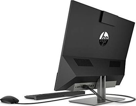 HP 4NN56AA#ABA Pavilion 24-Inch All-in-One Computer, Intel Core i5-9400T, 12 GB RAM, 512 GB Solid State Drive, Windows 10 (24-Xa0032, Black)