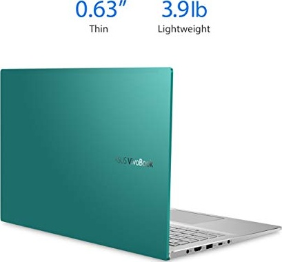"ASUS VivoBook S15 S533 Thin and Light Laptop, 15.6"" FHD Display, Intel Core i5-10210U CPU, 8GB DDR4 RAM, 512GB PCIe SSD, Windows 10 Home, Gaia Green, S533FA-DS51-GN"