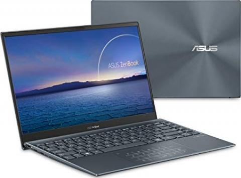 "ASUS ZenBook 13 Ultra-Slim Laptop, 13.3"" FHD NanoEdge Bezel Display, Intel Core i7-1165G7, 16GB LPDDR4X RAM, 1TB PCIe SSD, NumberPad, Thunderbolt 4, Wi-Fi 6, Windows 10 Home, Pine Grey, UX325EA-AH77"